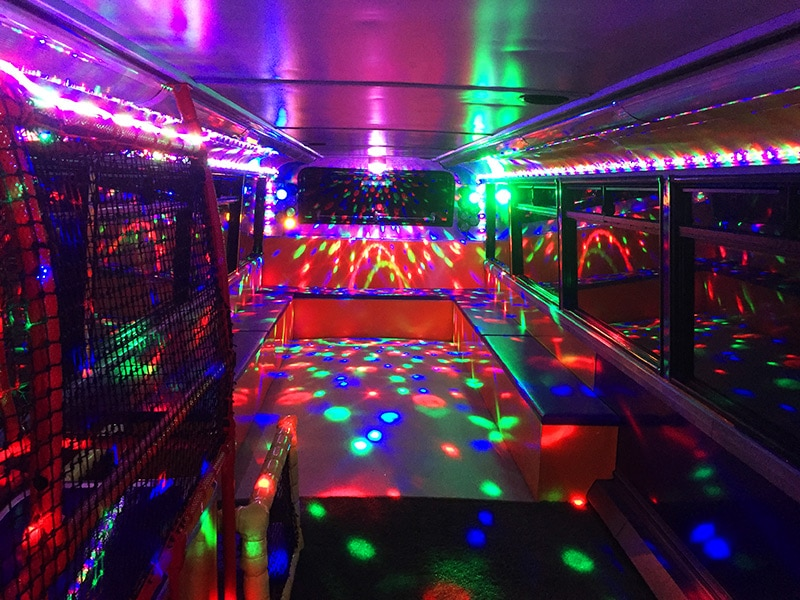 Kids party bus disco