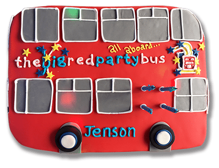 Party bus birthday cake