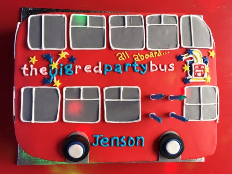 Party bus cake